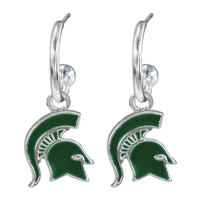 MICHIGAN STATE 435 | Michigan St Dangle Earrings