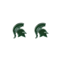 College Fashion Michigan State University Logo Charms Stud Elise Earrings
