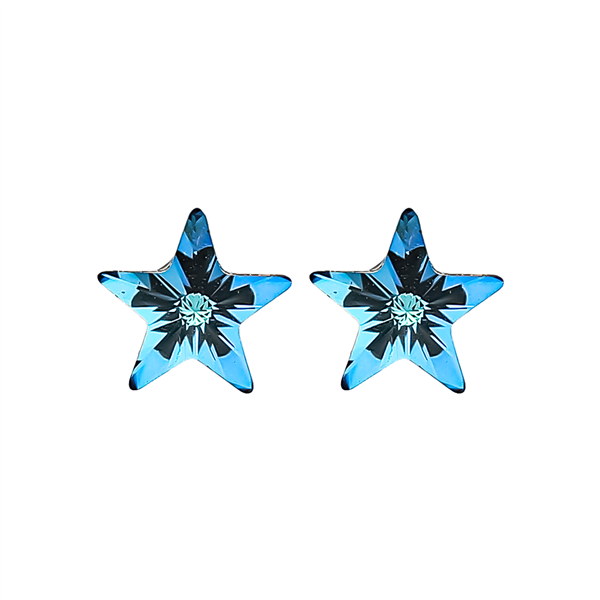 "3/8""  Baby Blues Starburst Earrings"