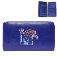 Memphis University College Wallet Clutch Case Blue Tiger Tennessee
