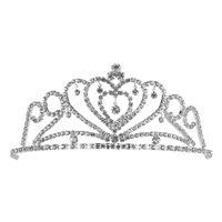 CRYSTAL HEART TIARA