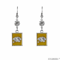Square Dangle Earrings Missouri Tigers