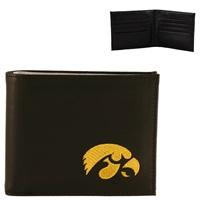 Iowa Men's Bi-fold Wallet Hawkeye Billfold Herky