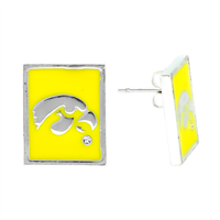 Square Dangle Earrings | Iowa Hawkeyes