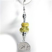 Beaded Dangle Earrings Iowa Herky The Hawk