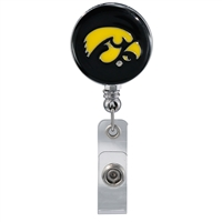 College Fashion University of Iowa Retractable ID Larry Lanyard Badge Reel