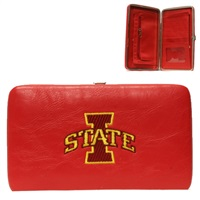 Iowa State Cyclone Wallet Clutch Clasp Red Gold