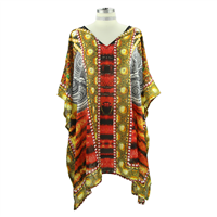 Yellow & Red Dashiki Top