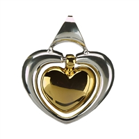 Gold & Silver Heart Pendant