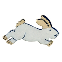 Leaping Bunny Pendant