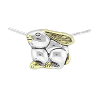 Springtime Two-Toned Easter Baby Jack Rabbit Pendant Charm