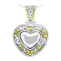Unique & Stylish Reversible Two-Tone Heart Pendant Charm