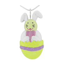 Springtime Multi-Colored Easter Bunny Cracked Egg Versatile Pin Pendant Charm