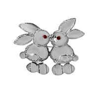 Kissing Bunnies Pendant