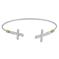 HAMMERED CROSS BANGLE BRACELET