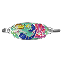 Colorful Mermaid Charm Bangle Bracelet