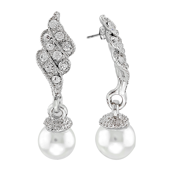 Crystal Pearl Drop Earrings