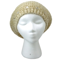 Ivory Knitted Pom Beret