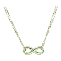 Stylish Fashionable Infinity Gold Double Chain Necklace