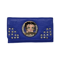 Blue Betty Boop Circle Wallet