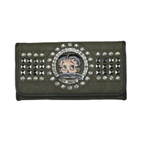 Gray Betty Boop Circle Wallet
