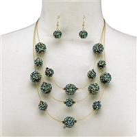 Spiked Bead Necklace Set
