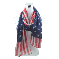Red, White & Blue Bright Stars Bold Stripes American Flag Scarf