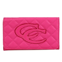 Pink CC Quilted Wallet