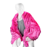 Stylish Fashion Forward Trendy Soft Fuzzy Warm Fuchsia Pink Blanket Shawl