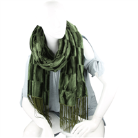 Stylish Fashion Forward Trendy Soft Suede Warm Dark Green Blanket Shawl Scarf