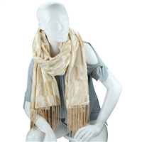 Stylish Fashion Forward Trendy Soft Suede Warm Ivory Blanket Shawl Scarf