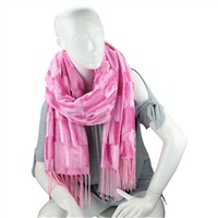 Stylish Fashion Forward Trendy Soft Suede Warm Pink Blanket Shawl Scarf