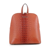 Women's Orange Backpack Handbag
