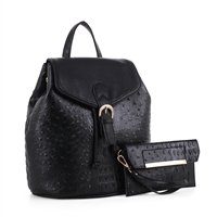 The Midnight Black Knapsack Handbag