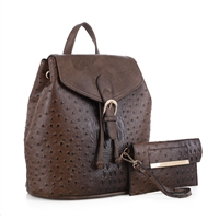 The Dark Brown Knapsack Handbag