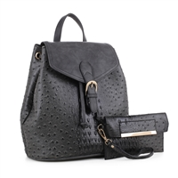 The Space Gray Knapsack Handbag