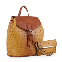The Mustard Yellow Knapsack Handbag