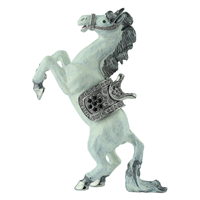 Sparkling Green, Black & Clear Crystals on White Giddy-up Horse Trinket Box