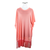 LONG FRINGED COVER-UP | CORAL