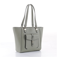 Stylish & Classy Light Olive Green Faux Leather Essential Tote Satchel Handbag