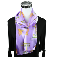 Light Purple Church Inspired Print Scarf