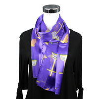 Purple Church Inspired Print Scarf