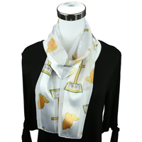White Church Inspired Print Scarf