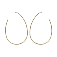 Gold Open Teardrop Earrings