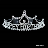 "CRYSTAL ""HAPPY BIRTHDAY"" CROWN TIARA 