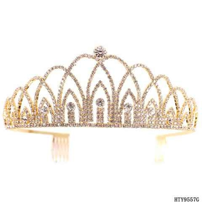 CRYSTAL CROWN COMB DIADEM | GOLD