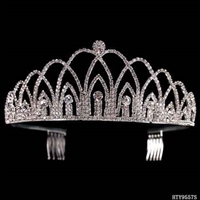 CRYSTAL CROWN COMB DIADEM | SILVER