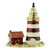 THE HOUSE WITH A LIGHTHOUSE TRINKET BOX | RED