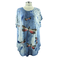Blue Dragonfly Top