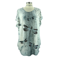 Light Gray Dragonfly Top